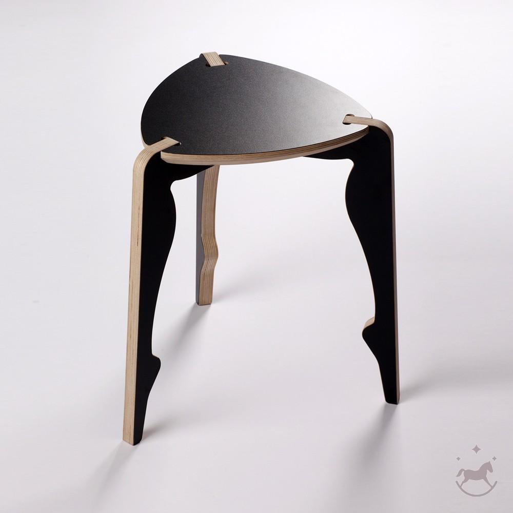 Fabulous Bolero 3 Legged Stool Black Decosinto Is Interior Design Inzonedesignstudio Interior Chair Design Inzonedesignstudiocom