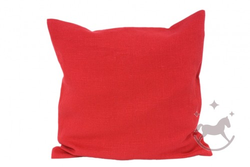 Linen Cushion Cover RED