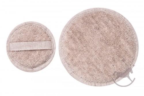 Set of 2 Linen Terry Cosmetic Sponges