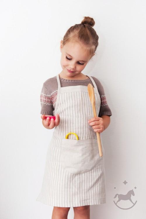 Linen Apron For Kids