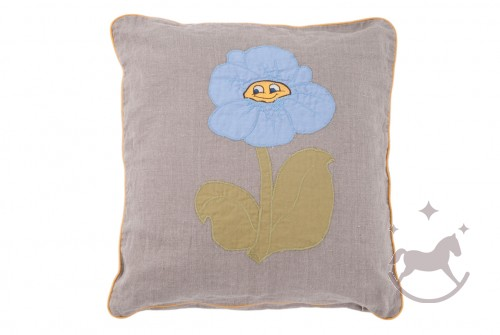Linen Cushion Cover Blomst