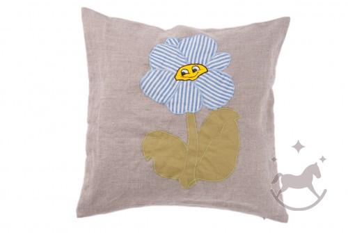 Linen Cushion Cover Blomst