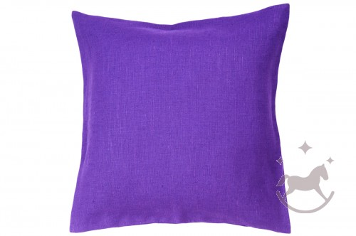 Linen cushion cover PURPLE