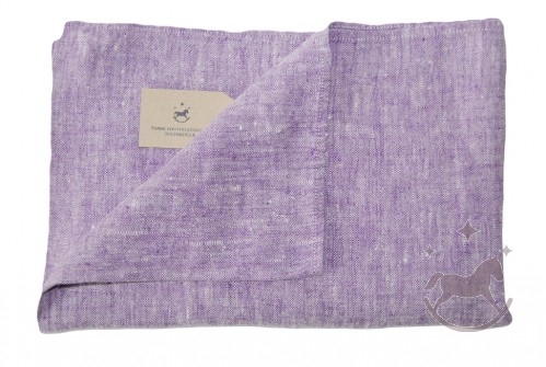 Linen Bath Towel, purple