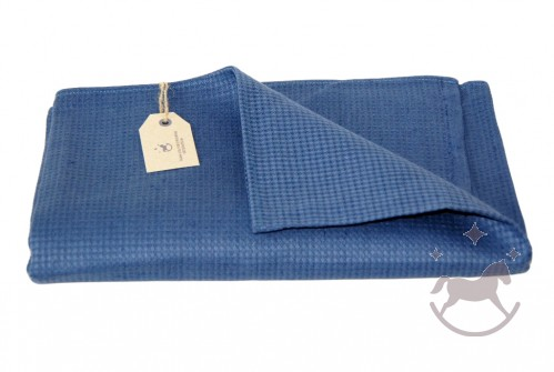 Linen Waffle Towel, blue