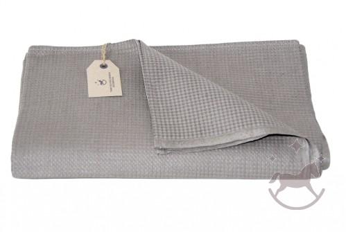 Linen Waffle Towel, dark grey