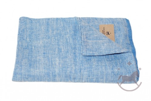 Linen Bath Towel, blue