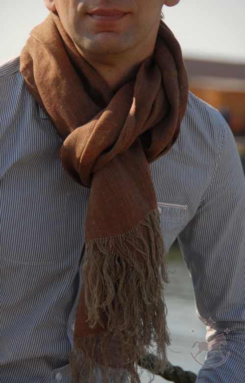 Tørklæde i 100 % hør