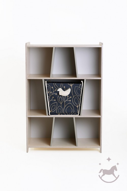 Bookshelf Bird & Berry+toy box included