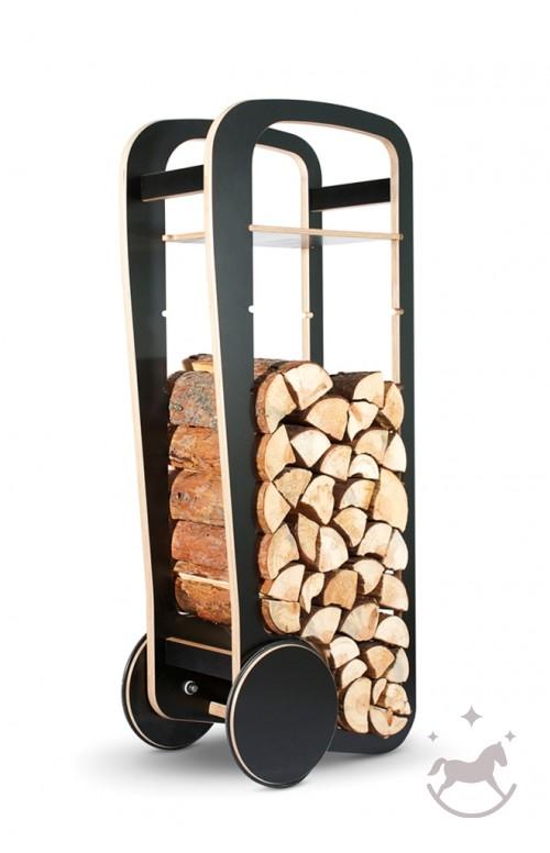 Fleimio Wood Trolley, black