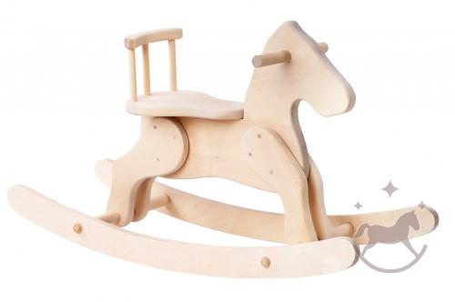 Kids Riding Wood Rocking Horse