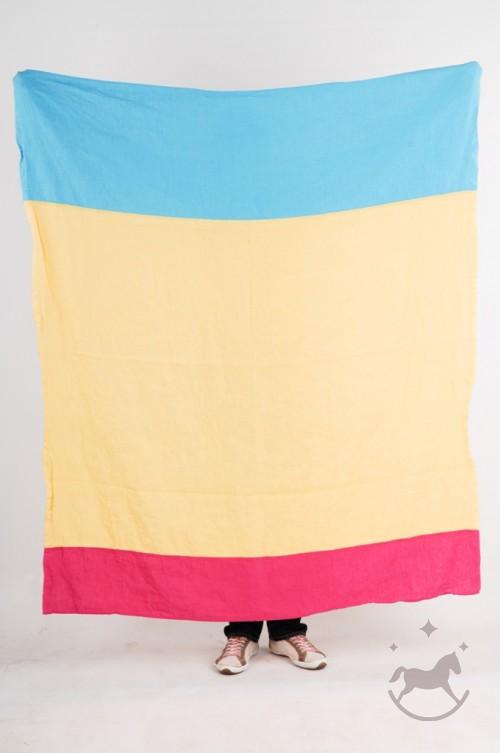 Linen Beach Towel, yellow