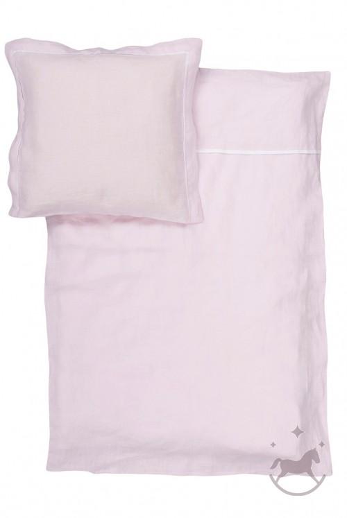 Washed linen baby beding set, PINK