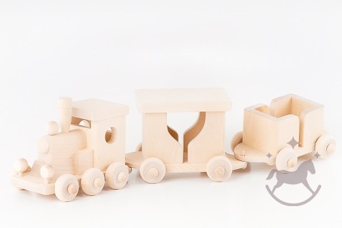 Wooden Handmade Toy Train