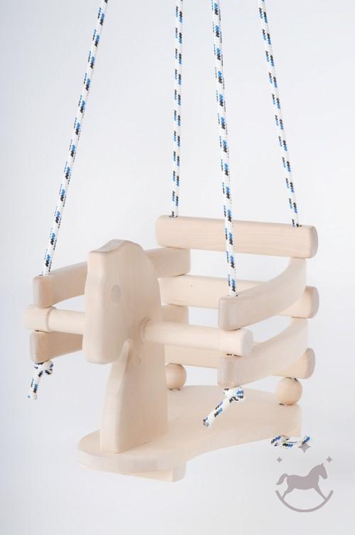 Kids Wooden Horse Swing