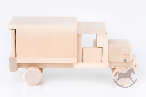 Handmade Natural Wooden Lorry