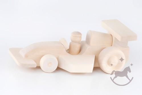 Natural Wooden Racing Car F1