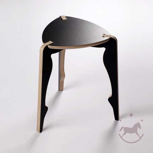 Bolero 3 Legged Stool, black