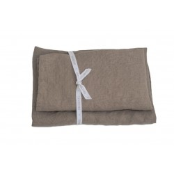 Set of 2 Linen Bath Towels, Mongoose