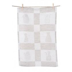 Linen Guest Towel With Six Cats (3 pieces)