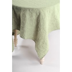 Washed Linen Tablecloth, green