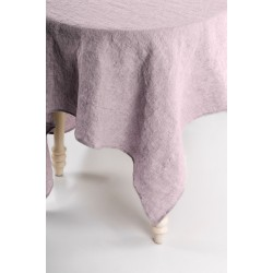 Washed Linen Tablecloth, purple