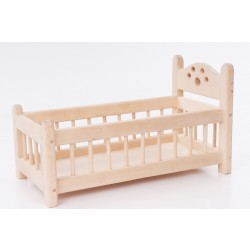 Handmade Wooden Doll Bed