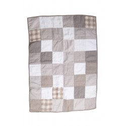 Patched Linen Baby Blanket
