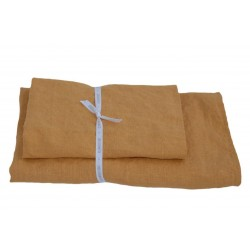Set of 2 Linen Bath Towels, Orange peel