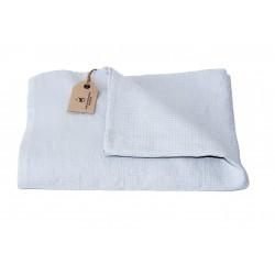 Linen Waffle Towel, silver