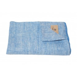 Linen Bath Towel, blue