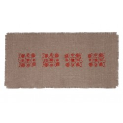Linen table runner, Natur