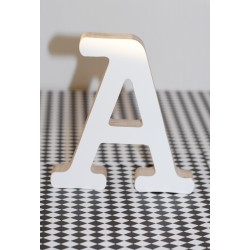 Wooden Letter A, white