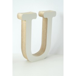 Wooden Letter U