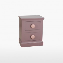 Freya Land Two Drawer Bedside Chest
