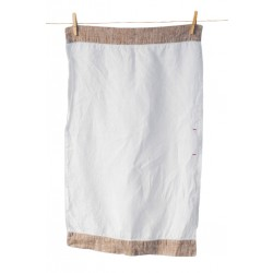 Handmade Linen Tea Towel, brown