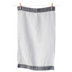 Handmade Linen Tea Towel, grey