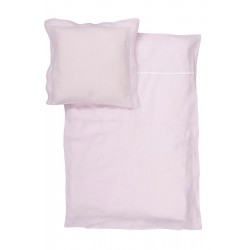 Washed linen baby beding set, PINK