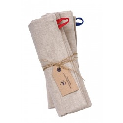 Linen Towels, grey HE and SHE ( 2pc)