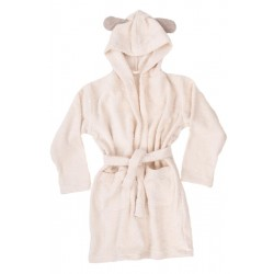 Terry Linen Bathrobe, natural