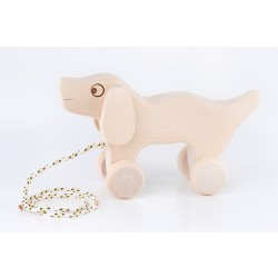 Wooden Pull Dog