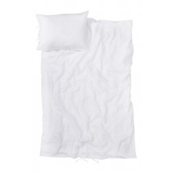 Washed Linen Bedding White, ELSE