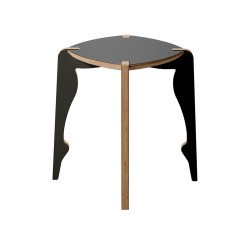 Bolero 4 Legged Sculptured Stool, black